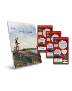Julepakken - 10 lodd + bok